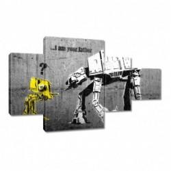 Obraz 130x80cm Banksy I am...