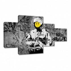 Obraz 130x80cm Banksy Buźka