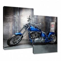 Obraz 80x70cm Niebieski...