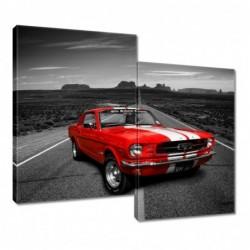 Obraz 80x70cm Czerwony Ford...