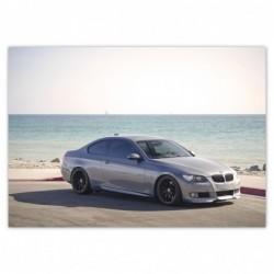 Plakat 100x70cm BMW na plaży