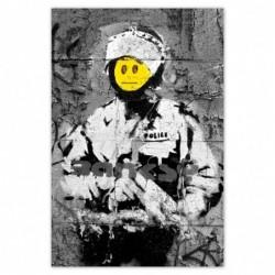 Plakat 80x120cm Banksy Buźka