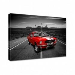 Zegar 60x40cm Czerwony Ford...