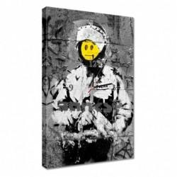 Zegar 40x60cm Banksy Buźka