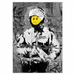 Naklejka 70x100cm Banksy Buźka