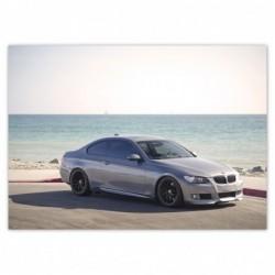 Naklejka 70x50cm BMW na plaży
