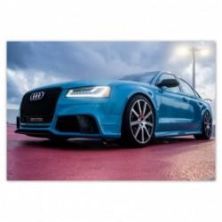 Plakat 93x62cm Niebieskie Audi