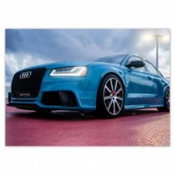 Plakat 70x50cm Niebieskie Audi