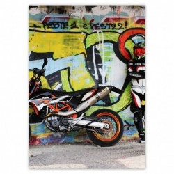 Plakat 50x70cm Motocykl...