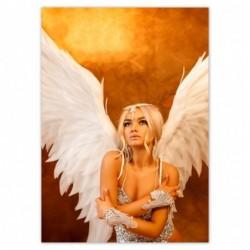 Plakat 50x70cm Anioł kobieta