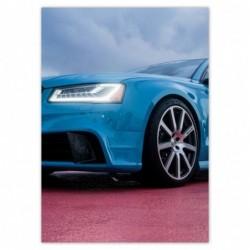 Plakat 50x70cm Niebieskie Audi