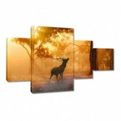 Obraz 130x80cm Jeleń w lesie
