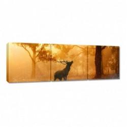 Obraz 90x30cm Jeleń w lesie