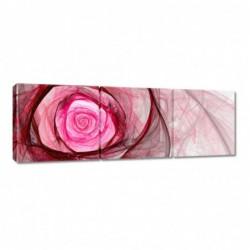 Obraz 90x30cm Różowa róża...