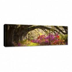 Obraz 90x30cm Kwiaty w parku