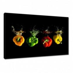 Obraz 60x40cm Kolorowe papryki