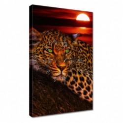 Zegar 40x60cm Lampart pantera