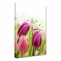 Zegar 40x60cm Piękne tulipany