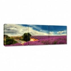 Obraz 90x30cm Lawendowy pejzaż